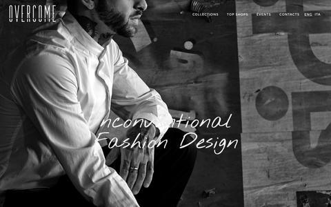 Screenshot of Home Page overcomedesign.com - Overcome - Unconventional Fashion Design - captured Feb. 15, 2016