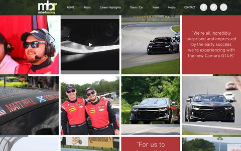 Screenshot of Press Page mbellracing.com - Matt Bell Racing | Media - captured July 25, 2018