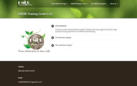 Screenshot of About Page emdrtrainingcenter.com - EMDR Training Center   » EMDR Training Center LLC - captured July 9, 2017