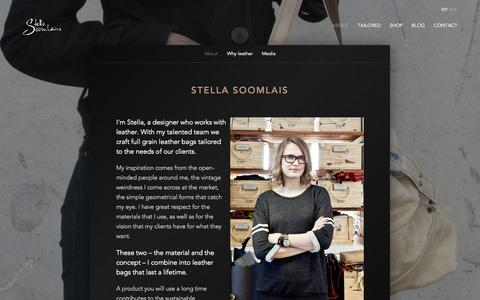 Screenshot of About Page stellasoomlais.com - About - Stella Soomlais - captured Oct. 7, 2014