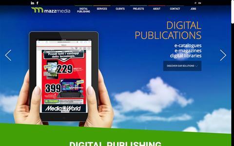 Screenshot of Home Page mazzmedia.com - MazzMedia - Digital Publishing Milano - captured Jan. 27, 2015