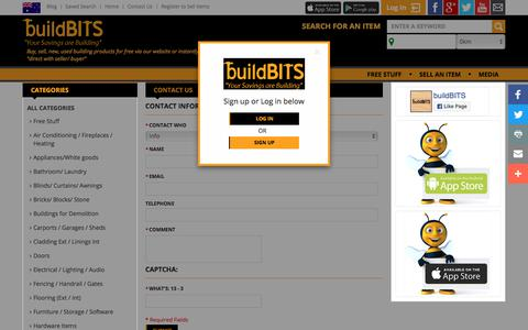 Screenshot of Contact Page buildbits.com.au - Contact Us - captured Sept. 24, 2018