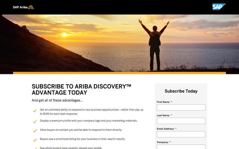 Subscribe to Ariba Discovery Today | SAP Ariba