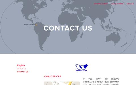 Screenshot of Contact Page whimex.com - Contact Us — - captured Feb. 14, 2016