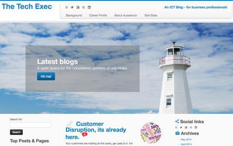 Screenshot of Home Page aussieicon.com - CIO - Sharing Information - captured Oct. 4, 2014