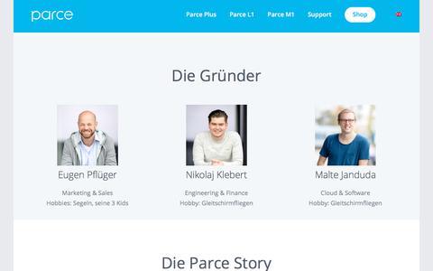 Screenshot of Team Page parce.de - Team – Parce - captured July 15, 2018