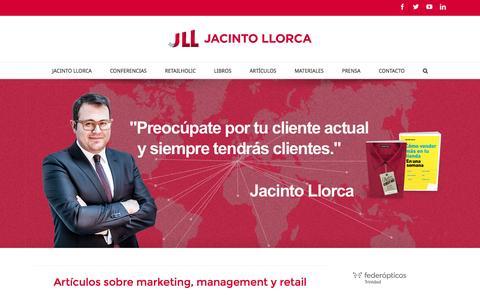 Screenshot of Home Page jacintollorca.com - Jacinto Llorca - Marketing y Management - captured Jan. 9, 2016