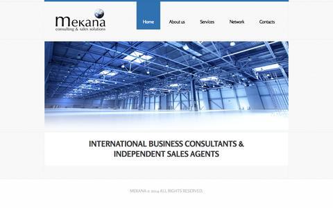 Screenshot of Home Page mekana.eu - Mekana   International business consultants & sales agents - captured Oct. 3, 2014