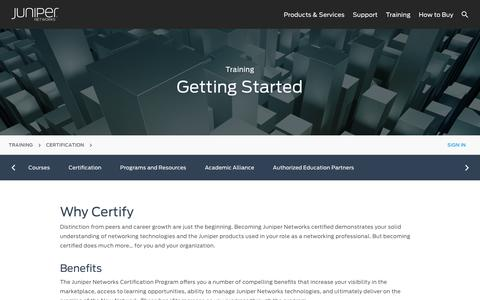 Getting Started Juniper Networks Certification Program – Networking Certification  – Juniper Networks