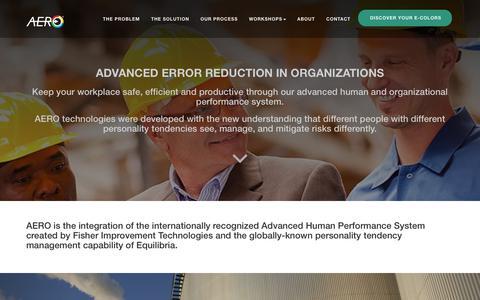 Screenshot of Home Page error-reduction.com - ADVANCED ERROR REDUCTION IN ORGANIZATIONS - captured Nov. 28, 2017