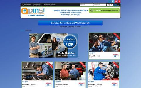 Screenshot of Services Page qpins.com - Deals By Category | QpINs.com - captured Sept. 18, 2014