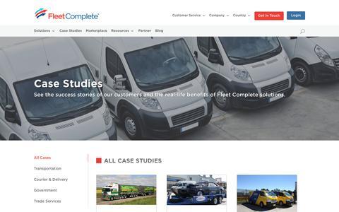 Screenshot of Case Studies Page fleetcomplete.com.au - Case Studies | AU Fleet Complete - captured Nov. 2, 2018