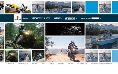 Screenshot of Home Page suzuki.com - Suzuki Motor of America, Inc. - captured Oct. 18, 2018