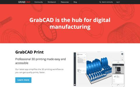 3D printing and CAD collaboration platform that accelerates product development - GrabCAD