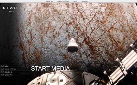 Screenshot of Home Page start-media.com - Start Media -  | home - captured Oct. 7, 2014