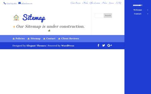 Screenshot of Site Map Page alansims.com captured Sept. 29, 2016