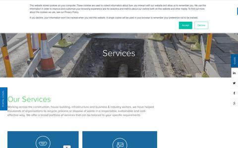 Screenshot of Services Page reconomy.com - Services | National Skip Hire & Skip Rentals | Reconomy - captured Sept. 21, 2019