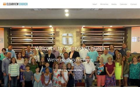 Screenshot of Home Page clearviewfwb.com - Join Clearview Church in McKinney, TX for family worship on Sundays. - captured Sept. 19, 2015