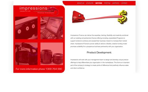 Screenshot of Services Page impressionsfinance.com.au - Finance for business equipment and Finance for imaging equipment - captured Sept. 30, 2014