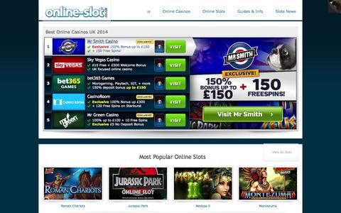 Screenshot of Home Page online-slot.co.uk - Online-Slot.co.uk – Play Slots Online & Read Slot Reviews - captured Sept. 19, 2014