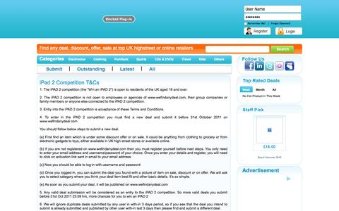 Screenshot of Terms Page wefindanydeal.com - wefindanydeal.com - First Need To Login or Register - captured Nov. 5, 2014