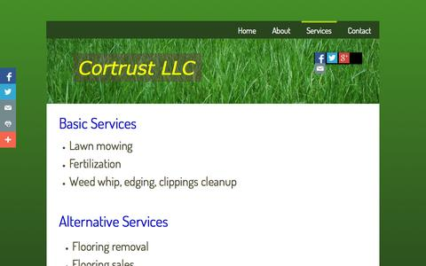 Screenshot of Services Page cortrustllc.com - Services - captured Sept. 30, 2014