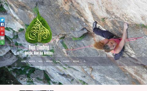 Screenshot of Contact Page yogaclimbing.com - Contact   Yoga Climbing - Breathe, Move and Meditate - captured April 7, 2017