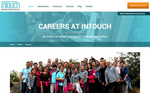 Screenshot of Jobs Page intouch-quality.com - Careers   InTouch Quality Control - captured July 5, 2017