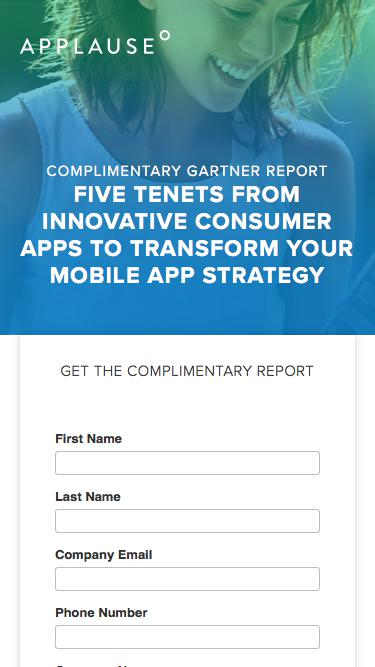 Gartner Report: Five Tenets From Innovative Consumer Apps To Transform Your Mobile App Strategy