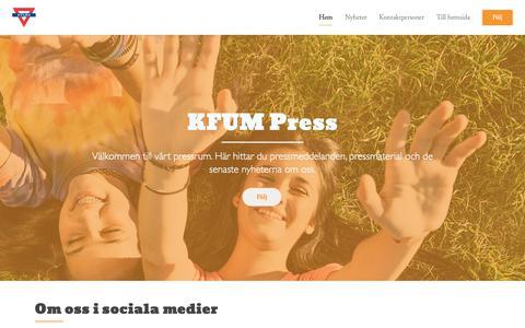 Screenshot of Press Page kfum.se - KFUM Press - captured Nov. 1, 2018
