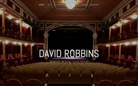 Screenshot of Home Page davidrobbinsmusic.com - David Robbins - captured May 4, 2016