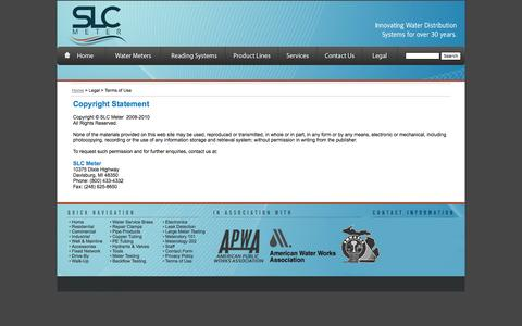 Screenshot of Terms Page slcmeter.com - Terms of Use - captured Oct. 1, 2014