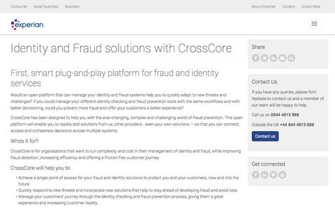 CrossCore | Identity & Fraud | Experian UK