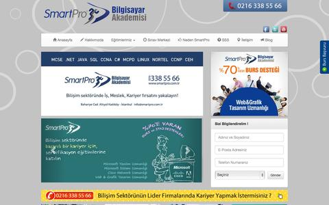Screenshot of Home Page smartpro.com.tr - SmartPro Bilgisayar Akademisi - captured Oct. 9, 2014