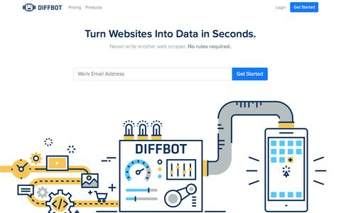 Web Data Extraction Using Artificial Intelligence | Diffbot