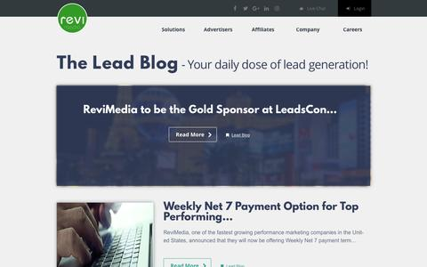 Screenshot of Blog revimedia.com - Revimedia  Lead Blog - captured March 26, 2017