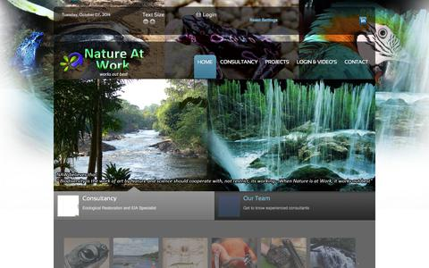 Screenshot of Home Page natureatwork.net - Nature At Work - captured Oct. 7, 2014