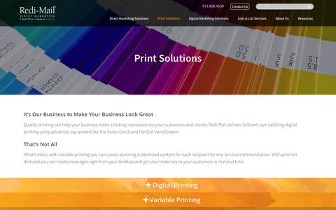 Digital Printing Services, Variable Data Printing, Print On Demand | Redi-Mail