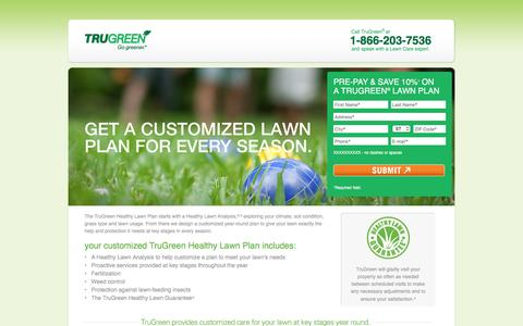 Screenshot of Landing Page trugreen.com - TruGreen | Free Quote - captured Aug. 15, 2016