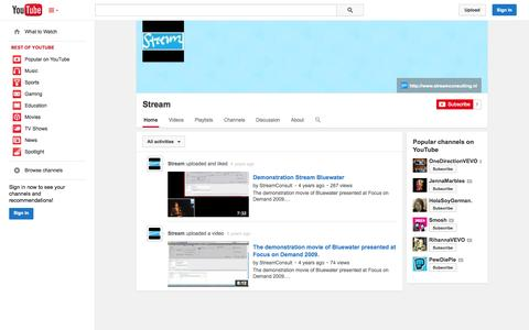 Screenshot of YouTube Page youtube.com - Stream  - YouTube - captured Oct. 25, 2014