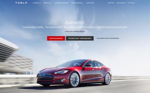 Screenshot of teslamotors.com - Tesla Motors Deutschland | Premium Elektrofahrzeuge - captured March 19, 2016