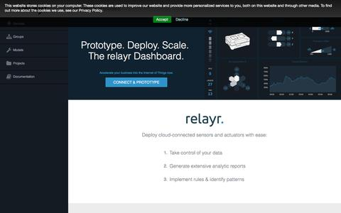Screenshot of Developers Page relayr.io - relayr - captured July 4, 2016