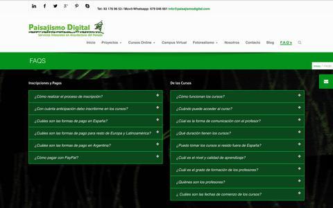 Screenshot of FAQ Page paisajismodigital.com - FAQS Paisajismo Digital - Servicios Integrales en Paisajismo - captured July 6, 2017