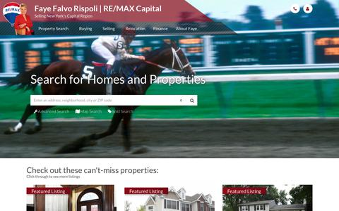 Screenshot of Home Page ffrispoli.com - Selling New York's Capital Region. Saratoga, Albany, Schenectady, and Rensselaer - Faye Falvo Rispoli | RE/MAX Capital - captured Oct. 13, 2017