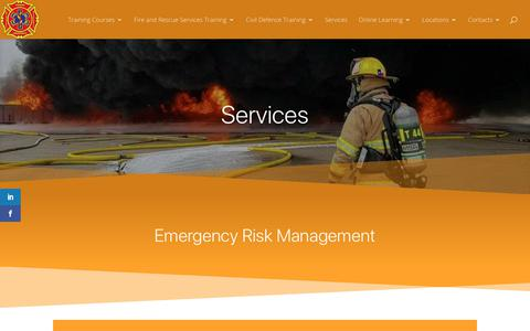 Screenshot of Services Page firerescueandfirstresponse.co.nz - Services - Fire Rescue and First Response Ltd - captured Nov. 14, 2018