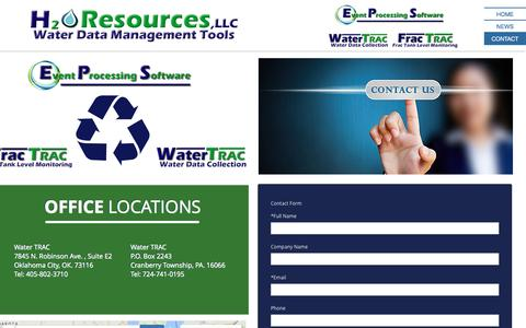 Screenshot of Contact Page watertrac.com - watertrac.com contact - captured Sept. 29, 2016