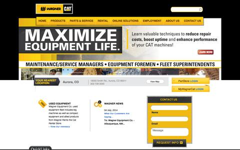Caterpillar Dealer - Heavy Equipment Sales & Rentals  - Wagner Equipment