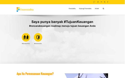 Screenshot of Home Page finansialku.com - Konsultasi Perencanaan Keuangan Finansialku - Finansialku - captured Sept. 23, 2014