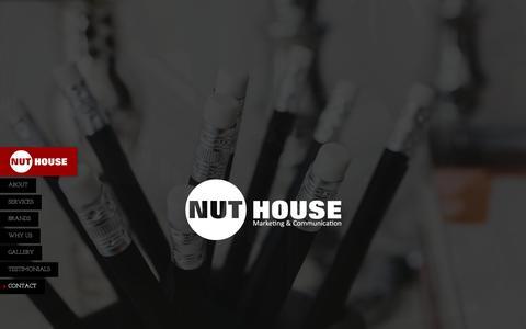 Screenshot of Home Page nuthousemarketing.co.za - Nuthouse Marketing - captured April 13, 2016