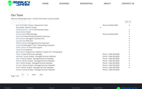 Screenshot of Team Page realitybytesinc.com - Our Team - Reality Bytes Computers and IT Support - captured Dec. 3, 2016